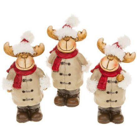 Small Reindeer Set of 3 Figurines